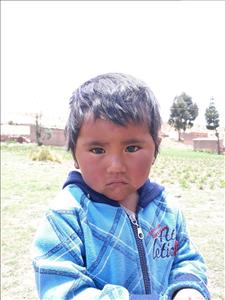 Choose a child to sponsor, like this little boy from Mosoj Punchay, Santiago age 3