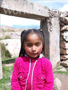 Erlinda, aged 6, from Bolivia, is hoping for a World Vision sponsor