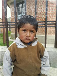 Choose a child to sponsor, like this little boy from Khantati, Javier age 4