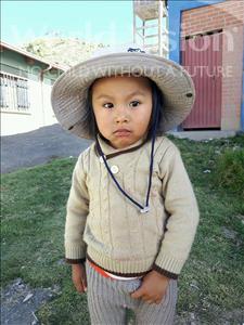 Choose a child to sponsor, like this little boy from Khantati, Jose Ariel age 3