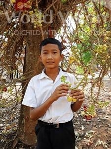 Choose a child to sponsor, like this little boy from Soutr Nikom, Soleap age 12