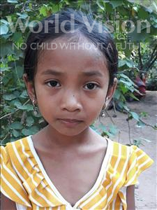 Choose a child to sponsor, like this little girl from Soutr Nikom, Nary age 7