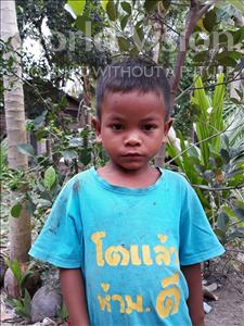 Choose a child to sponsor, like this little boy from Soutr Nikom, Veasna age 5
