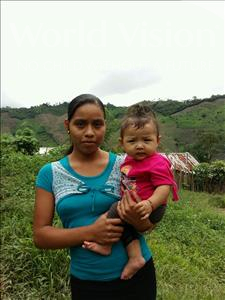 Evelin Yesenia, aged 2, from Honduras, is hoping for a World Vision sponsor