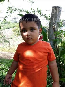 Franklin Adonias, aged 3, from Honduras, is hoping for a World Vision sponsor