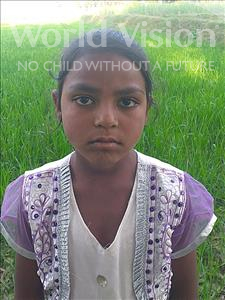 Choose a child to sponsor, like this little girl from Sarlahi, Sajirin age 9