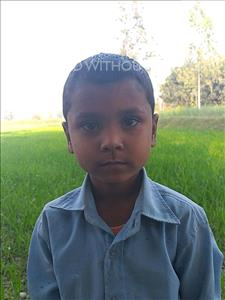 Choose a child to sponsor, like this little boy from Sarlahi, Harilal age 6