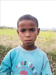 Choose a child to sponsor, like this little boy from Sarlahi, Dilkash age 6