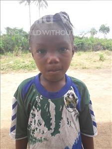 Choose a child to sponsor, like this little girl from Tegloma, Mariatu age 7