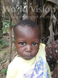 Hinga Mustapha, aged 1, from Sierra Leone, is hoping for a World Vision sponsor