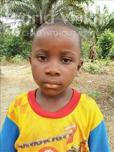 Choose a child to sponsor, like this little boy from Jaiama Bongor, Yankuba age 6