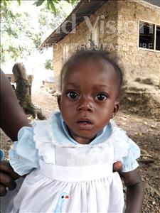 Choose a child to sponsor, like this little girl from Jaiama Bongor, Seibatu age 1