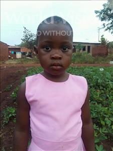 Merish, aged 4, from Uganda, is hoping for a World Vision sponsor