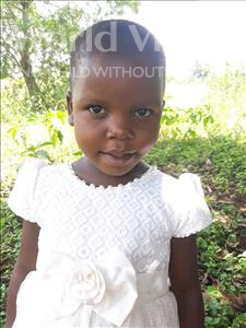 Choose a child to sponsor, like this little girl from Busitema, Lacke Shanita age 5