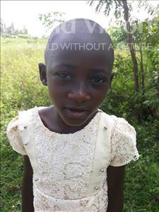 Feva, aged 7, from Uganda, is hoping for a World Vision sponsor