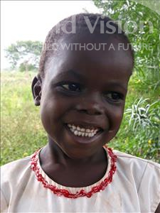 Choose a child to sponsor, like this little girl from Busitema, Natiki age 4