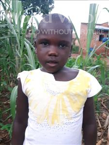 Trina, aged 5, from Uganda, is hoping for a World Vision sponsor