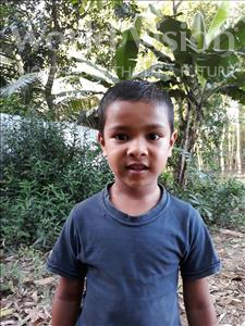 Choose a child to sponsor, like this little boy from Ghoraghat, Alif age 6