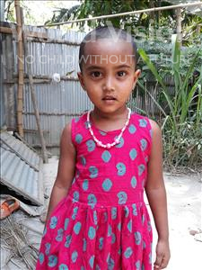 Choose a child to sponsor, like this little girl from Ghoraghat, Samiya Jannat age 4