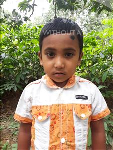 Choose a child to sponsor, like this little boy from Ghoraghat, Mim age 5