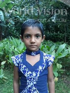 Choose a child to sponsor, like this little girl from Ghoraghat, Moni Mitu age 6