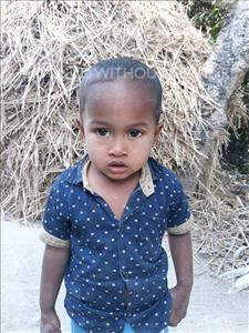 Choose a child to sponsor, like this little boy from Ghoraghat, Abir Hasan age 3