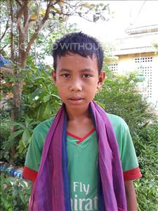 Choose a child to sponsor, like this little boy from Soutr Nikom, Kim Seang age 11