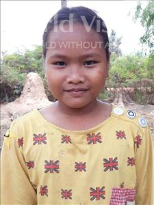 Choose a child to sponsor, like this little girl from Soutr Nikom, Theara age 11