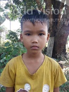 Choose a child to sponsor, like this little boy from Soutr Nikom, Chha Nun age 9