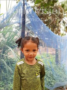 Choose a child to sponsor, like this little girl from Soutr Nikom, Vonneath age 4