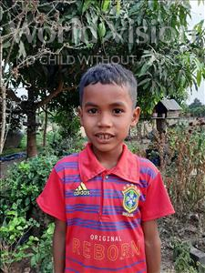 Choose a child to sponsor, like this little boy from Soutr Nikom, Vichet age 7
