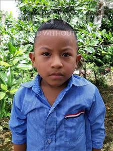 Choose a child to sponsor, like this little boy from Maya, Yeison Yovani age 5