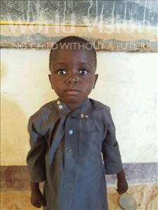 Choose a child to sponsor, like this little boy from Sirba, Abassa age 4