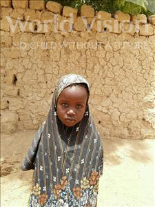 Choose a child to sponsor, like this little girl from Komabangou, Oumou age 7