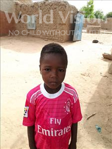 Choose a child to sponsor, like this little boy from Komabangou, Hanifa age 8