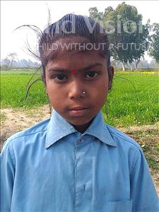 Choose a child to sponsor, like this little girl from Sarlahi, Renu age 9