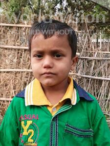 Choose a child to sponsor, like this little boy from Sarlahi, Salamat age 5