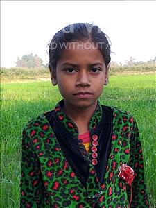 Choose a child to sponsor, like this little girl from Sarlahi, Tarangnu age 6