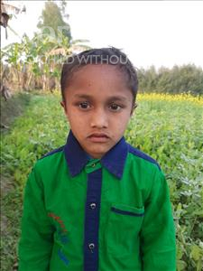 Choose a child to sponsor, like this little boy from Sarlahi, Samshad age 6