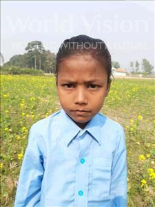 Choose a child to sponsor, like this little girl from Sarlahi, Bandhan Kumari age 5