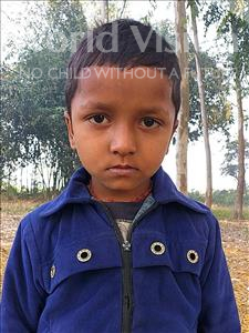 Choose a child to sponsor, like this little boy from Sarlahi, Kamlesh age 6
