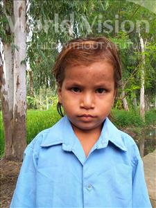 Choose a child to sponsor, like this little girl from Sarlahi, Anshu Kumari age 4