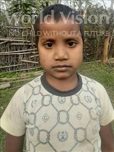 Choose a child to sponsor, like this little boy from Sarlahi, Isadn age 5