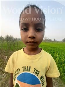 Choose a child to sponsor, like this little girl from Sarlahi, Sajan Kumari age 7