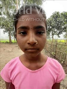 Choose a child to sponsor, like this little girl from Sarlahi, Prity Kumari age 10