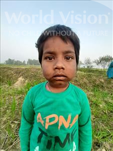 Choose a child to sponsor, like this little girl from Sarlahi, Sudha age 3