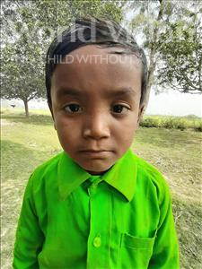Choose a child to sponsor, like this little boy from Sarlahi, Ashik Kumar age 6