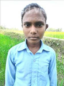 Choose a child to sponsor, like this little girl from Sarlahi, Rubi age 11