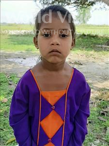 Choose a child to sponsor, like this little girl from Sarlahi, Nuresama age 4