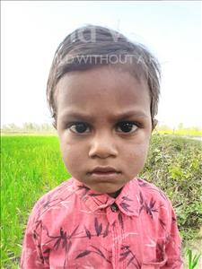 Choose a child to sponsor, like this little boy from Sarlahi, Adity Kumar age 3